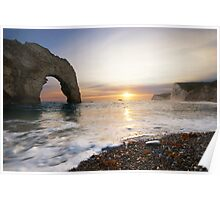 Durdle Door - Sunset Poster
