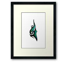 Grace / نعمة (teal) Framed Print