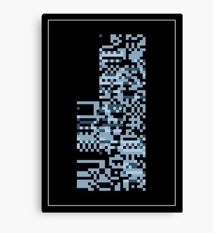 Pokemon Missingno. Blue Version Canvas Print