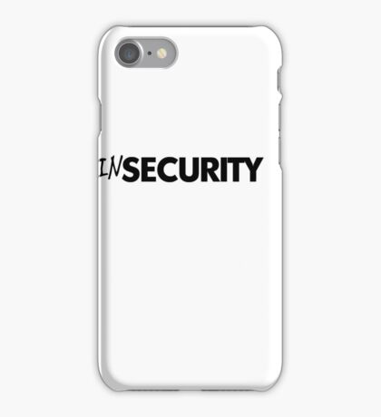 In security - black iPhone Case/Skin
