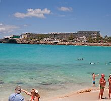Maho beach in St Maarten by Keith Larby