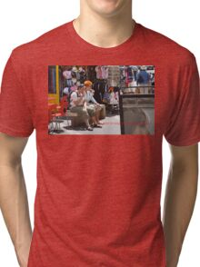 THE TASTE AND COLOR OF AJACCIO CORSICA (CARD) Tri-blend T-Shirt