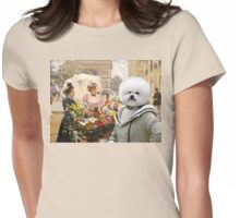 Bichon Frise Art Womens Fitted T-Shirt