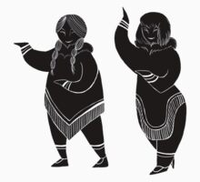 Inuit Dancers by Louise Dolan