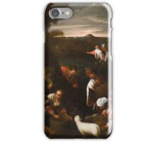 Jacopo Bassano, follower -Moses Striking the Rock iPhone Case/Skin