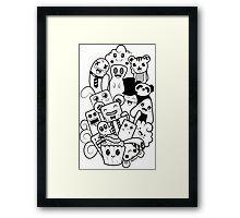 Doodle Kawaii Framed Print