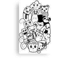 Doodle Kawaii Canvas Print