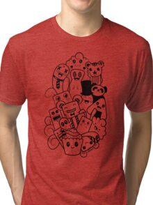 Doodle Kawaii Tri-blend T-Shirt