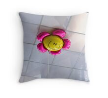 hitting the happiness ceiling Throw Pillow