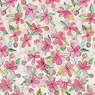 Pink Painted Blossom Pattern by micklyn