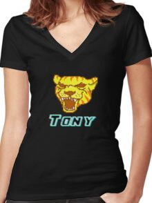 Hotline Miami - Tony ! Women's Fitted V-Neck T-Shirt