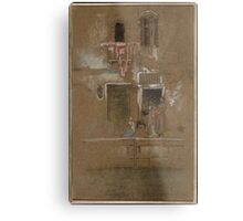 James McNeill Whistler, Note in Pink and Brown 1880 Metal Print