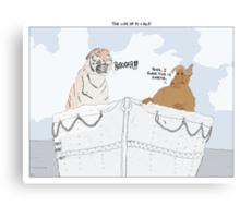 The Life of Pi + Alf Canvas Print