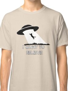 I want to believe - cat abduction Classic T-Shirt