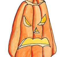 Grumpy Pumpkin by Amy-Elyse Neer