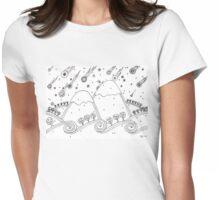 Winter night Womens Fitted T-Shirt