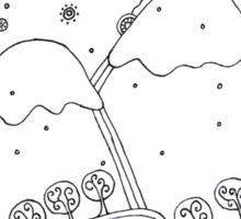 Winter night Sticker