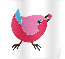 Bird with Berry Poster