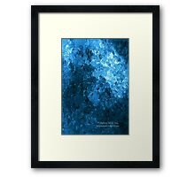 Balance of Blue Confusion Framed Print