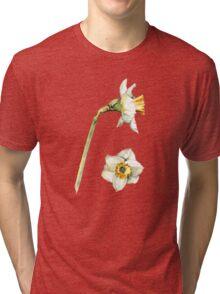 White & Yellow Daffodil Tri-blend T-Shirt