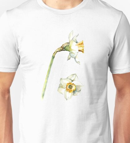 White & Yellow Daffodil Unisex T-Shirt
