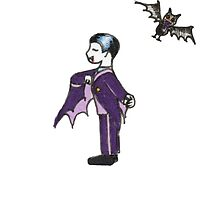 Vampire and His Bat by Amy-Elyse Neer