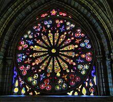 Stained Glass In Old Quito Ecuador Basilica by Al Bourassa