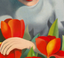 my mother among the tulips Sticker