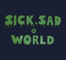 Sick, Sad World (Green glitter) Kids Clothes
