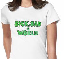 Sick, Sad World (Green glitter) Womens Fitted T-Shirt