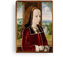 Jean Hey (called Master of Moulins), Margaret of Austria 1490 Canvas Print