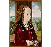 Jean Hey (called Master of Moulins), Margaret of Austria 1490 Photographic Print