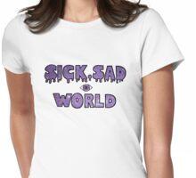 Sick, Sad World (Purple glitter) Womens Fitted T-Shirt