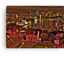 "*Fantasia"" - Uncut- Sydney Harbour And Skyline - Moods Of A City - THe HDR Experience Canvas Print"