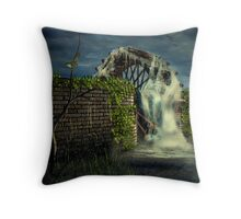 The Old Water Wheel Throw Pillow