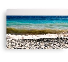 layer-cake-colors of the Mediterranean sea Canvas Print