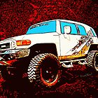 Toyota FJ Cruiser 4x4 Cartoon Panel from VivaChas by ChasSinklier