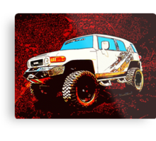 Toyota FJ Cruiser 4x4 Cartoon Panel from VivaChas Metal Print