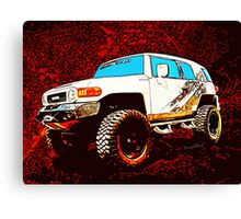 Toyota FJ Cruiser 4x4 Cartoon Panel from VivaChas Canvas Print