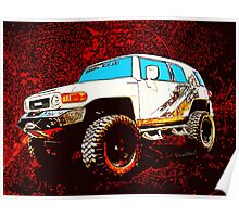 Toyota FJ Cruiser 4x4 Cartoon Panel from VivaChas Poster