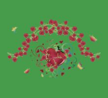 Heart with Roses 2 Kids Tee
