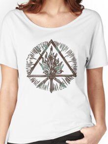 ANCIENT FIRE SYMBOL - aqua grunge Women's Relaxed Fit T-Shirt