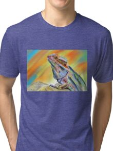 Chromatic Bearded Dragon  Tri-blend T-Shirt