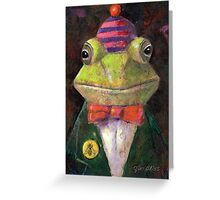 Dapper Frogman Greeting Card