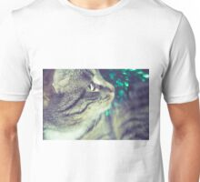 Retro Tabby Cat and Green Tinsel 3 Unisex T-Shirt