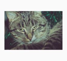 Retro Tabby Cat and Green Tinsel 5 One Piece - Long Sleeve