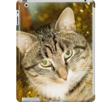 Tabby Cat and Yellow Tinsel iPad Case/Skin