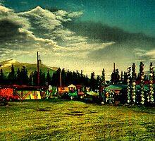 Alaska hubcaps. .....The Alcan Highway by Isa Rodriguez