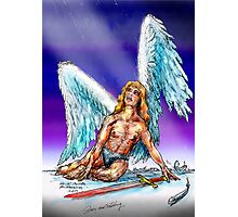 fallen Angel  sketch & Corel Photo paint Photographic Print