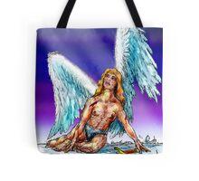 fallen Angel  sketch & Corel Photo paint Tote Bag